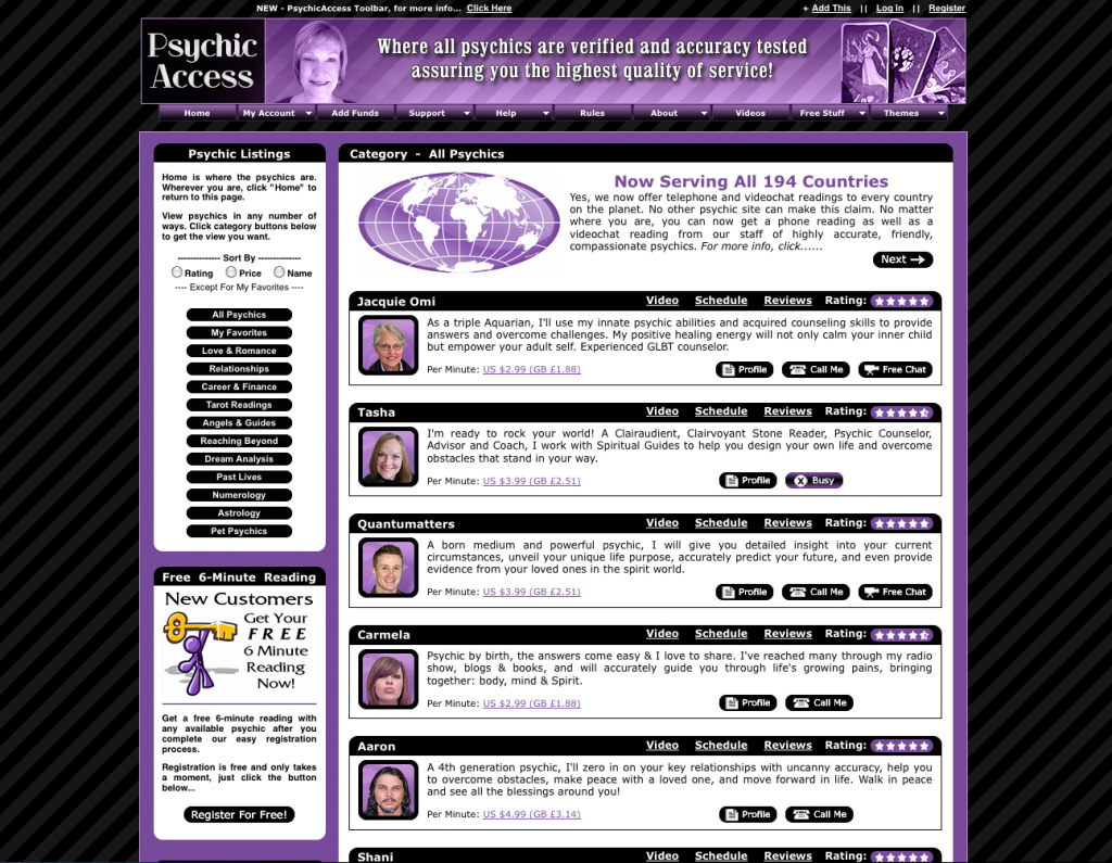Psychic Access Readings Review